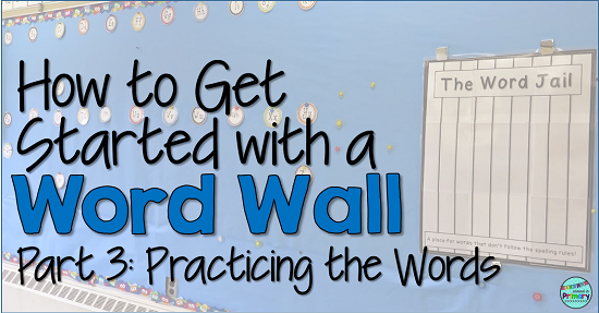 Ideas and activities to use with your students to review your Word Wall words or sight words daily.