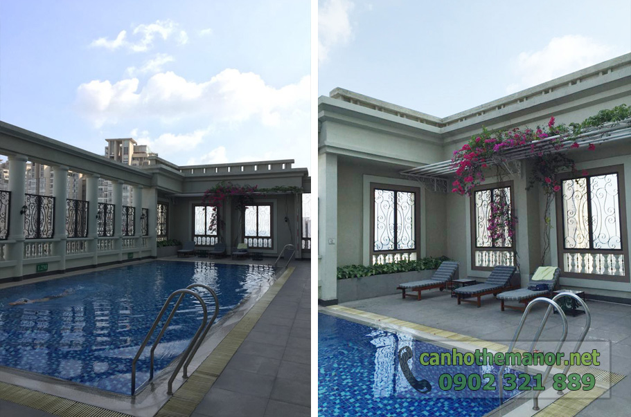 bán và cho thuê căn hộ the manor - hồ bơi