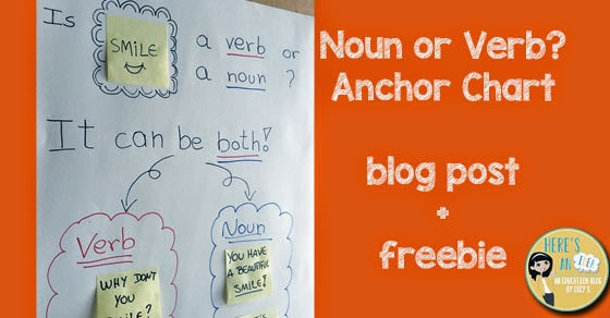 If you  re introducing nouns and verbs to your students or reviewing those two parts of speech here  an idea that will get kids think also noun verb anchor chart  freebie rh heresanideabylucysspot
