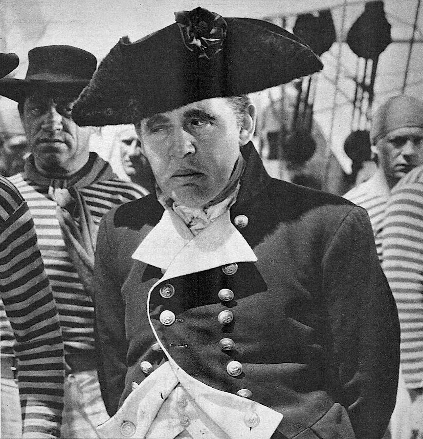 a photograph of Charles Laughton as Captain Bligh in the 1935 Hollywood film Mutiny on the Bounty