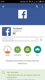 Cara Membuat Facebook lewat Hp Android xiaomi