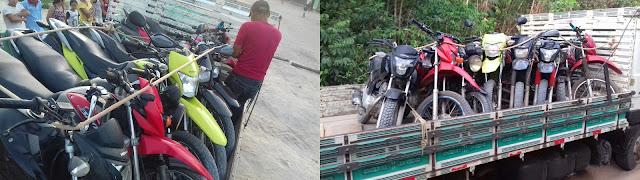 Polícia recupera 08 motocicletas roubadas em Urbano Santos.