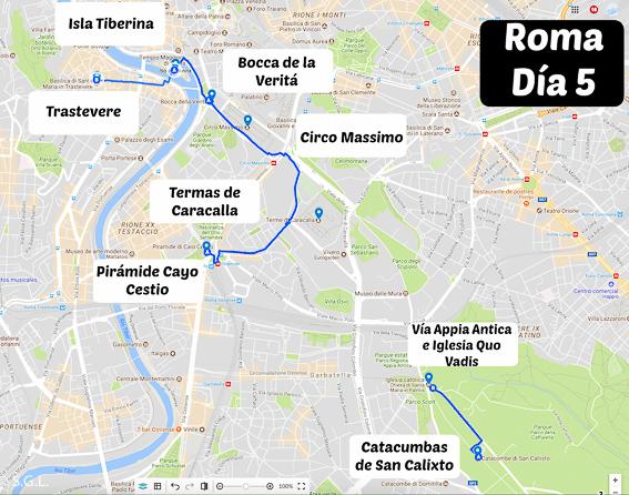Recorrido por Roma. Día 5. 5 días en Roma