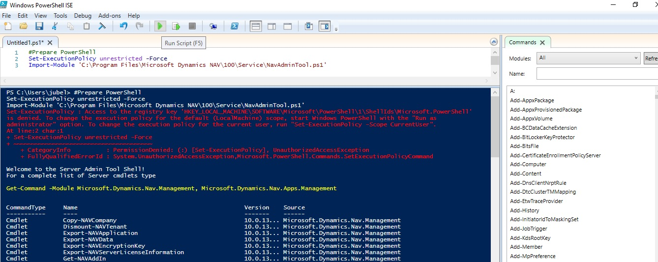 You Do Not Have Access To Microsoft Dynamics Nav Error Navision Planet