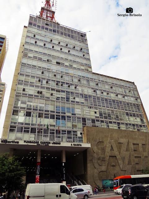 Vista ampla do Edifício Gazeta – Bela Vista - São Paulo