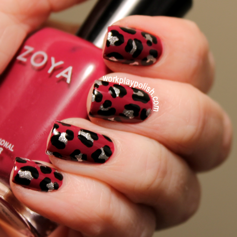 Leopard - Zoya Ciara, Sally Hansen Celeb City and Essie Licorice