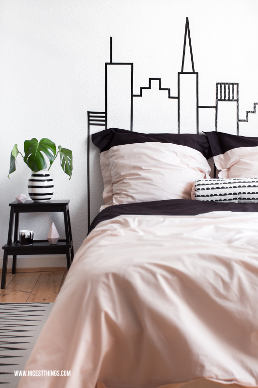 DIY New York City Skyline Headboard for Bedroom