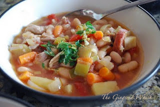 Stove-Top Cassoulet (The Gingered Whisk) This bright and flavorful stew is full of healthy and clean ingredients! Weight Watchers Approved!