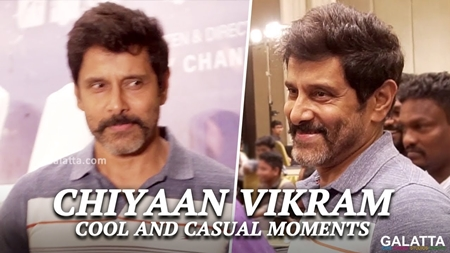 Chiyaan Vikram cool and causal moments | Sketch Success Meet