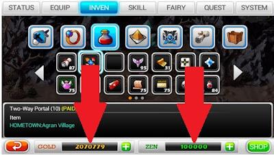 Zenonia 5 mod apk game unlimited zen