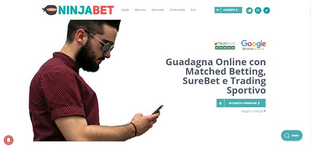 NinjaBet: il migliore sito di Matched Betting e SureBet in Italia