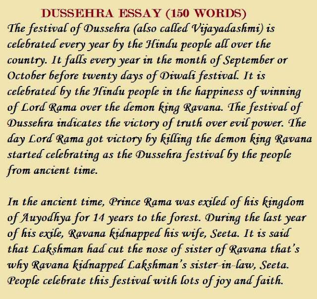 best     essay on dussehra in hindi  u0026 english  short