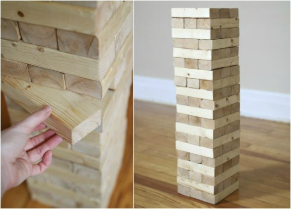 How To Build A Diy Giant Jenga Stacking Game 17 Apart
