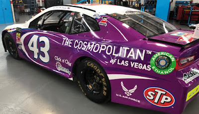 The No. 43 The Cosmopolitan of Las Vegas Chevrolet Camaro ZL1  #NASCAR