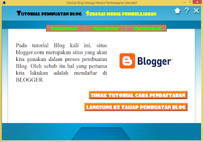 Aplikasi Tutorial Membuat Blog Untuk Guru 2