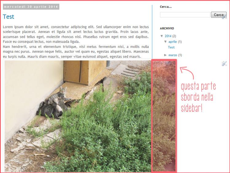 Come preimpostare la larghezza delle immagini dei post e delle sidebar