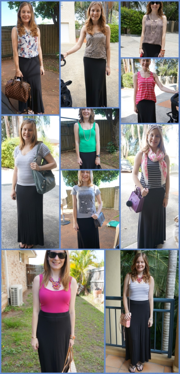 10 Outfit Ideas how to wear Black  Maxi Skirt | Away From Blue
