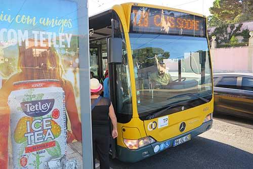 728 Lisbon Bus in Belem.