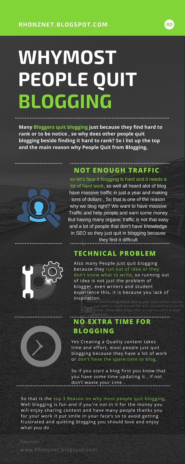 Why people quick blogging - infographics
