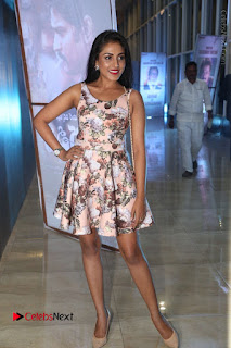 Actress Madhu Shalini Stills in Floral Short Dress at RGV Shiva to Vangaveeti Event  0163.JPG