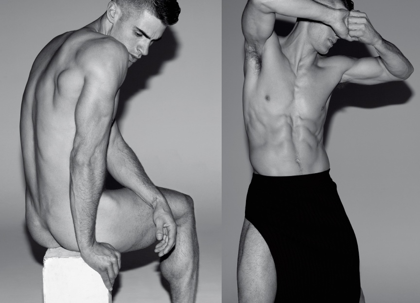 Male Model Chad White At Soul Artist Management Is Photographed By Milan Vukmirovic In The Sexy Black And White Body Language Editorial For Last Years