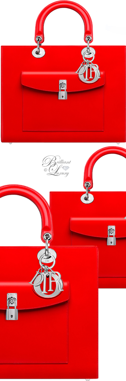 Brilliant Luxury ♦ Dior Lady Dior 'Vermillon Box Calfskin' Bag