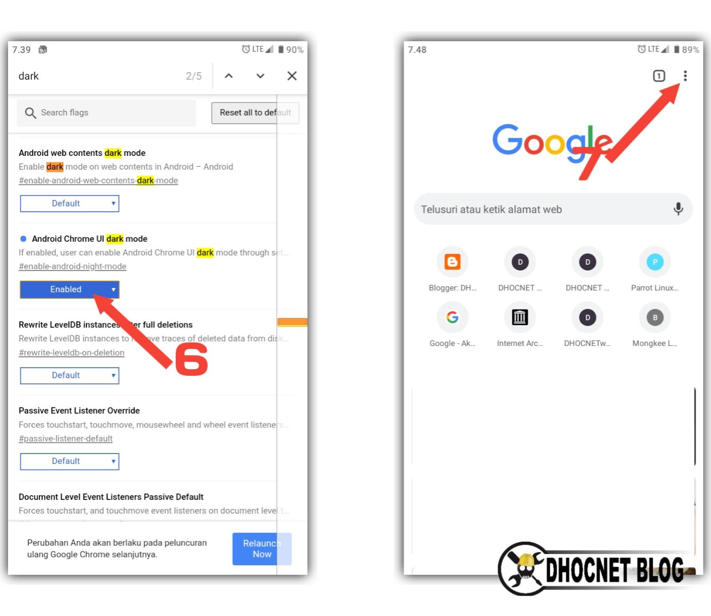 Cara Mengaktifkan Mode Gelap Google Chrome di Android