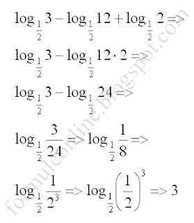 logarithms sum and difference