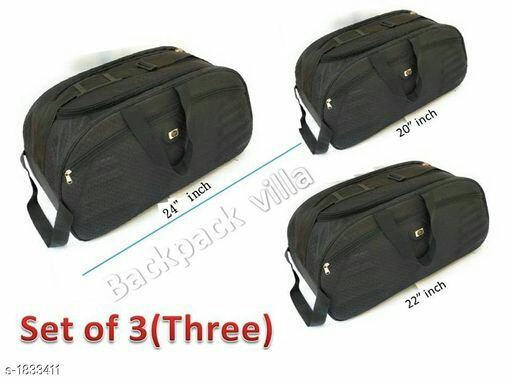 Trendy Duffle Travelling Bag With Plastic Wheel ( Pack Of 3)