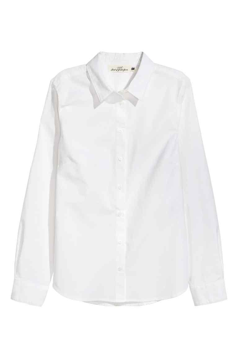 H&M klasyczna biała bawełniana koszula, wyprzedaż, co kupić na wyprzedaży w H&M
