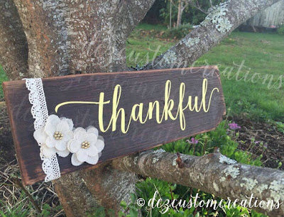 The Mommytastic Adventures: DIY wooden signs - Thankful