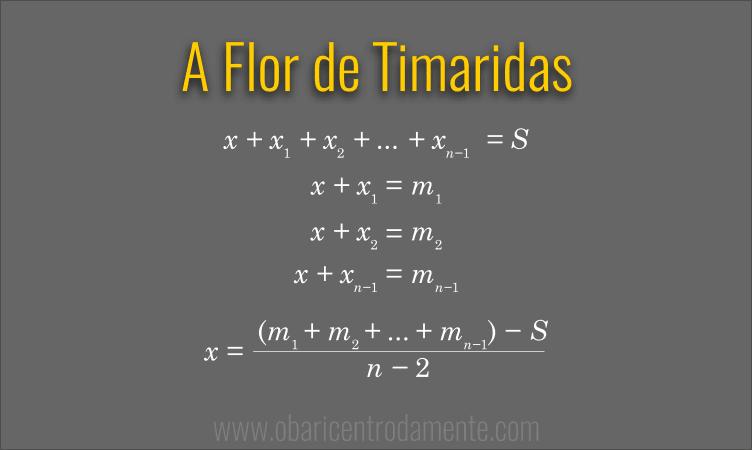 O problema da Flor de Timaridas