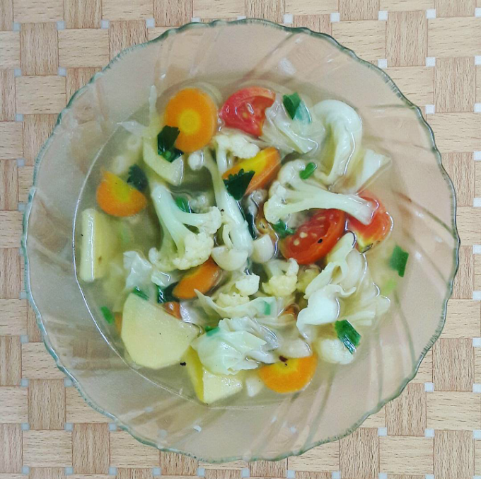 """Cooktime """"Sup Vegetarian"""" ala Nak Kost Masak"""