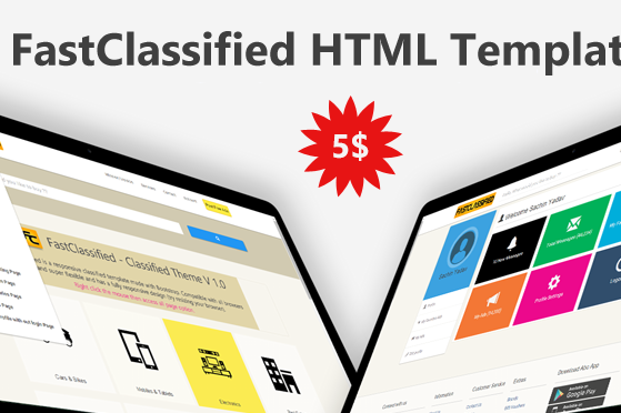 FastClassified - Classified HTML, CSS and JavaScript Template
