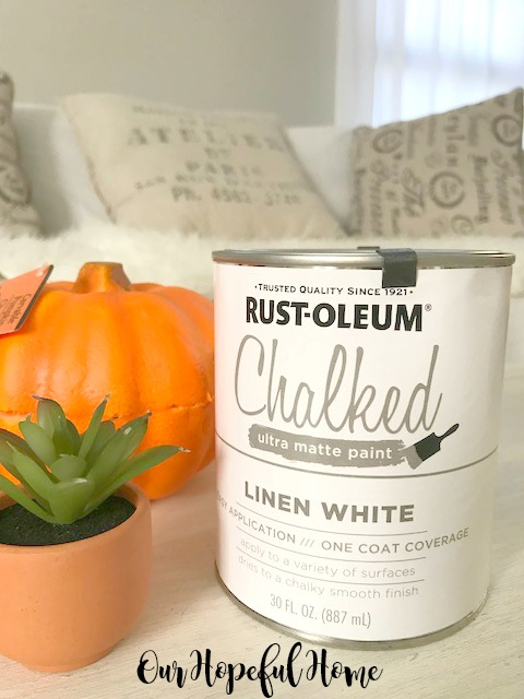 Can Rust-Oleum Chalked ultra matte paint Linen White