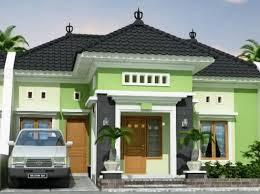 Perpaduan Warna Cat Hijau Tampilan Depan Rumah Minimalis Yang Menarik 3