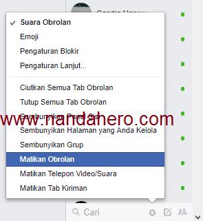 Cara Online FB tanpa Terlihat di fb pc