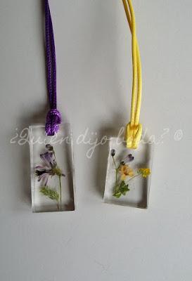 Colgantes de resina con flores de ¿Quién dijo boda?