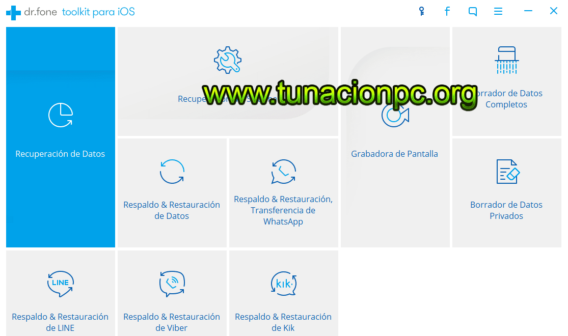 Wondershare Dr Fone Toolkit for iOS Español para Windows y Mac Imagen