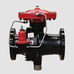 pilot operated sliding gate pressure regulator