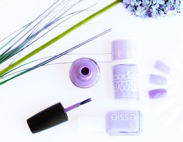 Purple nail polishes