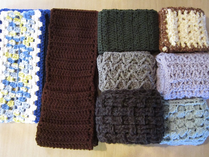 scarf, crochet, free pattern, charity, donation