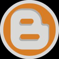 blogger button outline