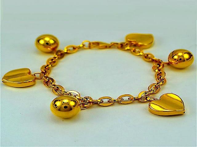 Gambar gelang emas keroncong