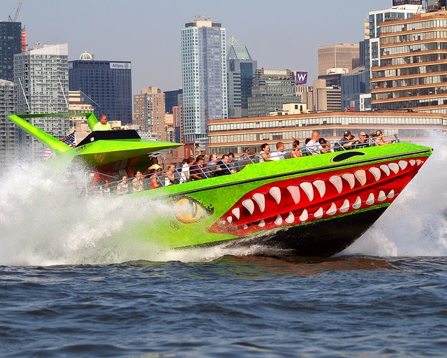 the beast speed boat on the river