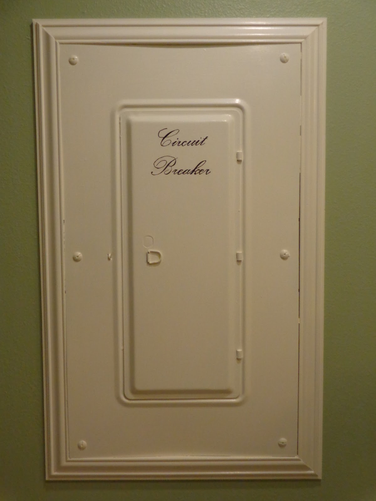 the smiths laundry room circuit breaker panel. Black Bedroom Furniture Sets. Home Design Ideas