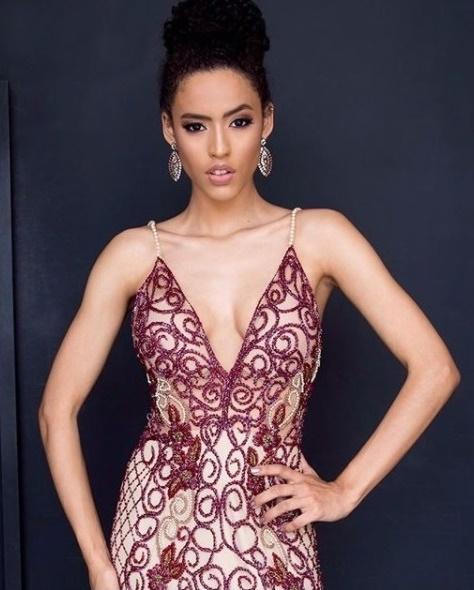 vestido de festa nude com marsala