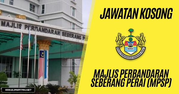 jawatan kosong kerajaan Majlis Perbandaran Seberang Perai (MPSP) 2019
