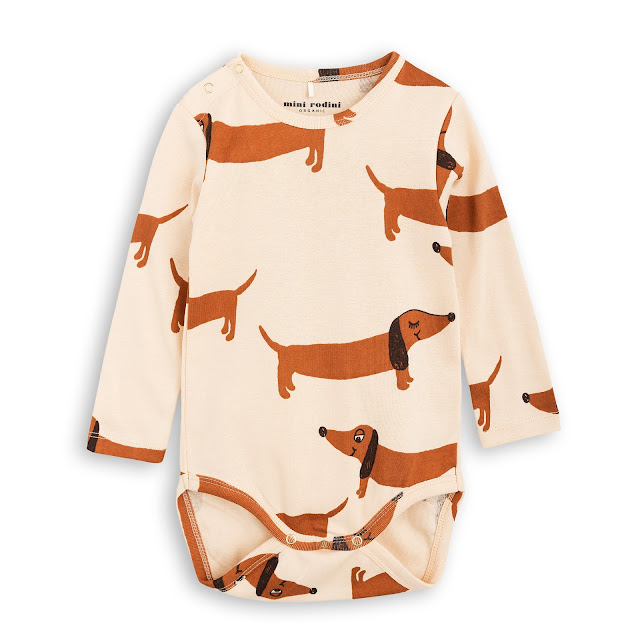 Mini Rodini Dog LS bodysuit