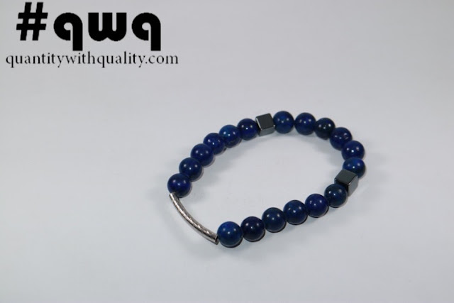 Titanium Collection with Lapiz Lazuli and Square Blustin